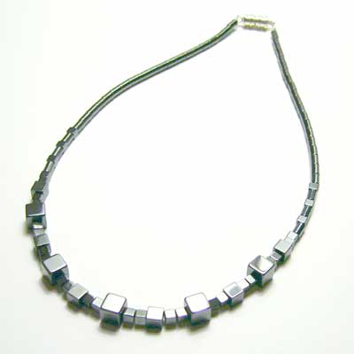 Hematite Cubed Necklace