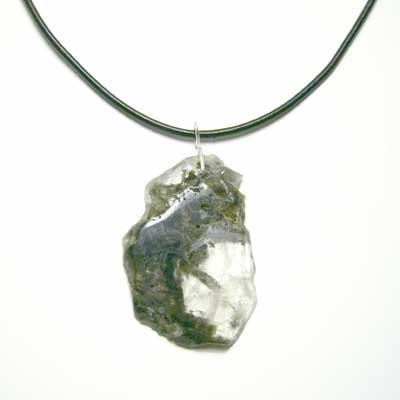 Tourmaline Quartz Rock Pendant